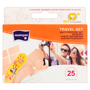 Matopat_Travel Set_plastry, 25szt./1 opak.