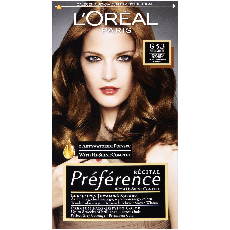 LOreal Paris farba do włosów G53 jasny brąz złocisty