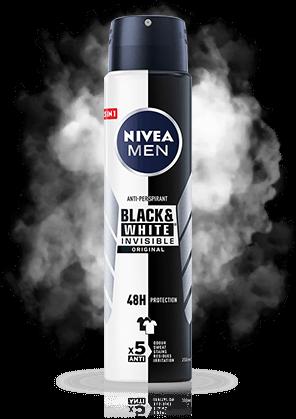 Black&White INVISIBLE Original Antyperspirant w aerozolu 250ml