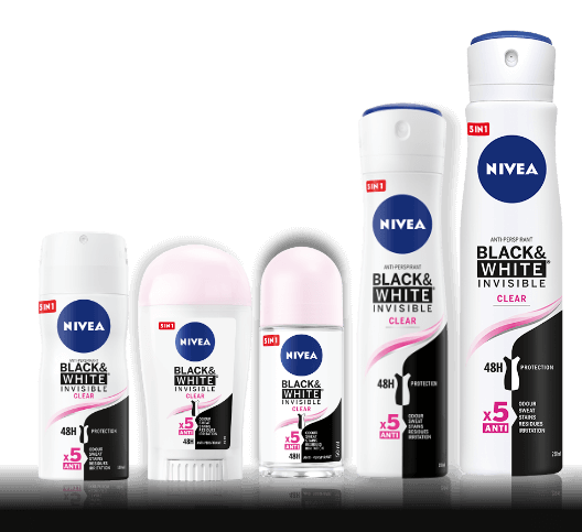 Black&White Invisible Clear ANTYPERSPIRANT