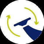 Philips Ruchoma głowica dostosowuje się do kształtu twarzy i ciała