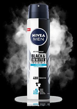 Black&White INVISIBLE Fresh Antyperspirant w aerozolu 250ml